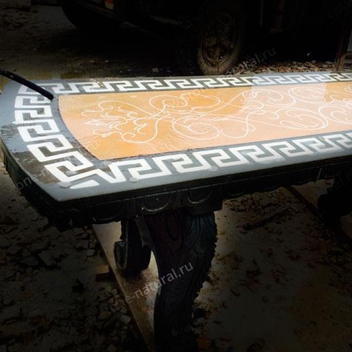 Столы из дагестанского камня